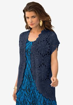 Medallion Crochet Cardigan,
