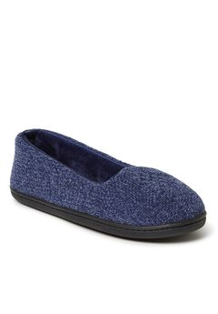 Rebecca Chenille Closed Back Slippers ,