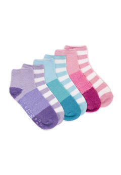 6 Pair Pack Aloe Infused Crew Socks,