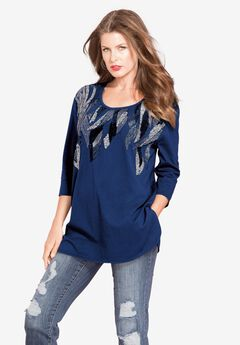 Feather Sequin Tunic,
