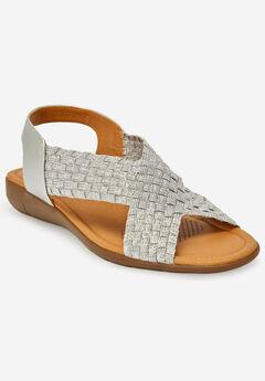 The Celestia Sling Sandal , SILVER METALLIC