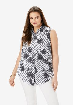 Sleeveless Kate Big Shirt,