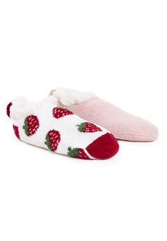 2 Pair Pack Infused Cabin Footie Slipper Socks,