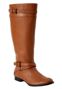 The Janis Wide Calf Leather Boot ,
