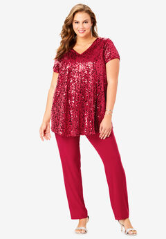 Sequin Tunic & Pant Set,