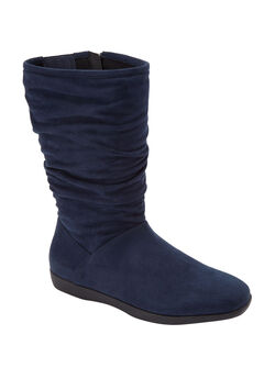 The Aneela Wide Calf Boot , NAVY