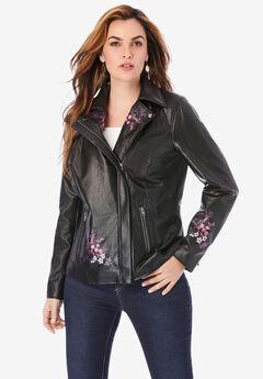 Floral Moto Jacket,