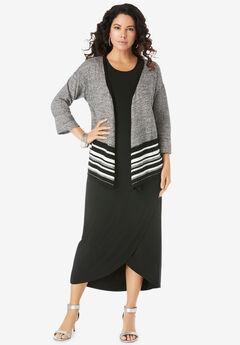 Flyaway Knit Jacket Dress,