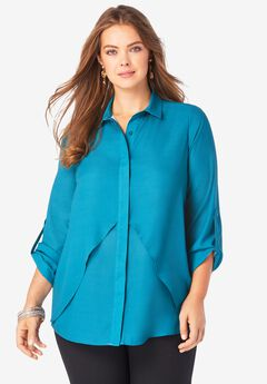 Georgette Overlay Big Shirt,