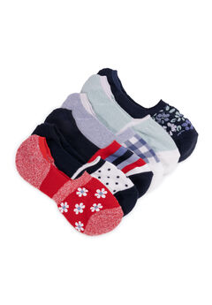 6 Pair Pack No Show Socks,