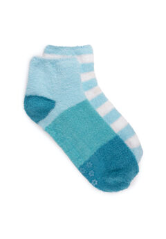 2 Pair Pack Aloe Infused Crew Socks,