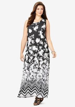 Ultra Smooth Print Maxi Dress,