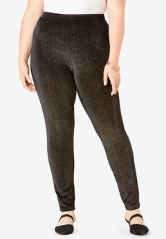 Glittery Velour Legging,