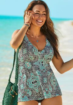 V-Neck Flowy Tankini Top,
