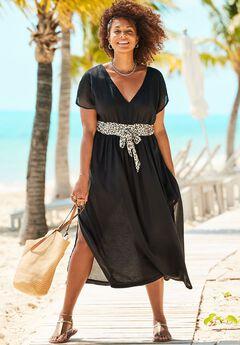 Stephanie V-Neck Cover Up Maxi Dress,
