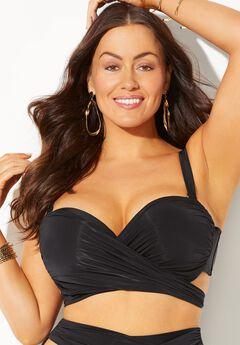 GabiFresh Cup Sized Wrap Underwire Bikini Top,