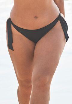 Ashley Graham Elite Bikini Bottom, BLACK
