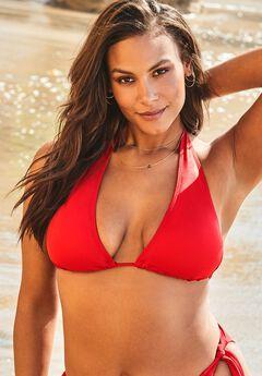 Ashley Graham Elite Triangle Bikini Top, LIPSTICK RED