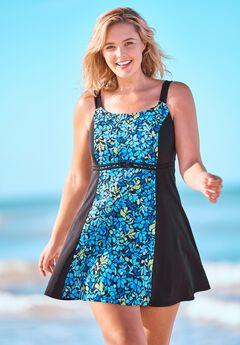 Colorblock Swim Dress ,