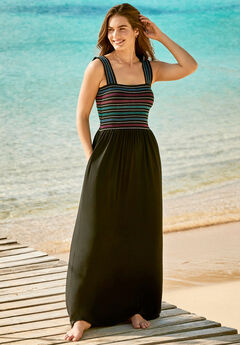 Smocked Maxi Cover Up,