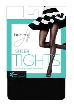 X-Temp Sheer Control Top Tights with Comfort Waistband,