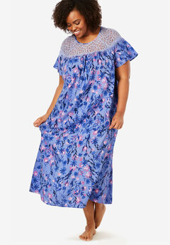 Lace Trim Sleep Gown ,