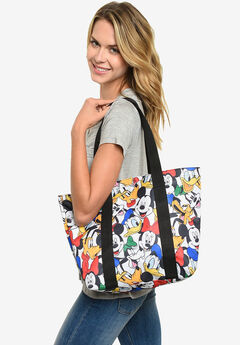 Disney Mickey Mouse Zippered Tote Bag Beach Bag,