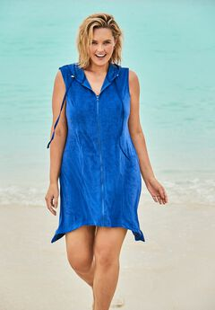 Sleeveless Terry Cover Up ,