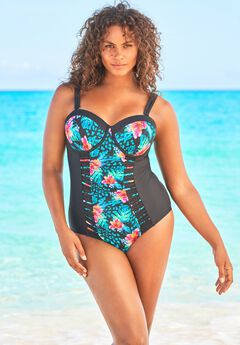 Mesh-Inset One Piece,