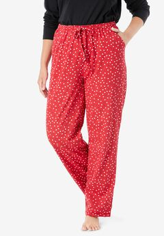 Knit Sleep Pant , CLASSIC RED DOT