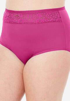 Mesh Insert Microfiber Full Cut Brief ,