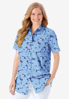 Perfect Short Sleeve Button Down Shirt,