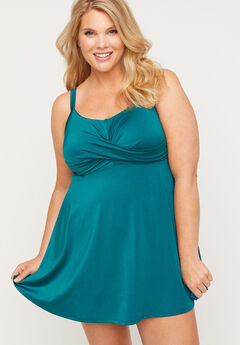 Coastal Shimmer Swim Dress,