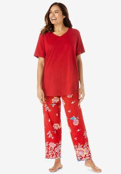 Short-Sleeve Knit PJ Set,
