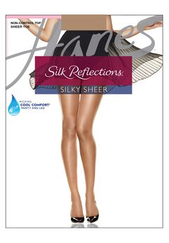 Silk Reflections Silky Sheer Non-Control Top Sheer Toe 6-Pack,