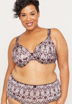 Full-Coverage Smooth Underwire Bra in Print,