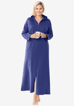 Hooded Fleece Robe ,