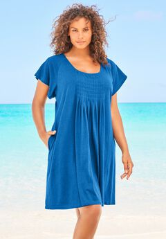 Box-Pleat Cover Up ,