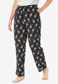 Knit Sleep Pant , BLACK REINDEER