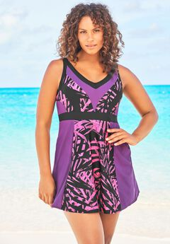 Colorblock Swimdress ,