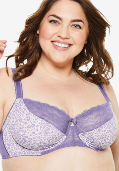 Lace-Trim Underwire Bra ,