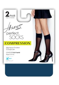 Perfect Diamond Compression Socks 2-Pack,