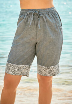 Cuffed Bermuda Short Cover Up,