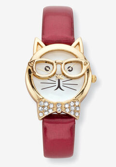 Cat Watch Round Crystal,