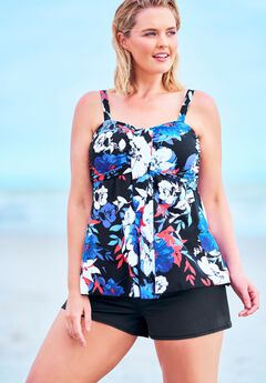 Flyaway Tankini Top with Bust Support ,