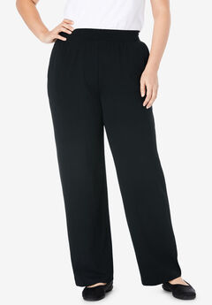 EveryWear Essentials™ Wide Leg Pant, BLACK