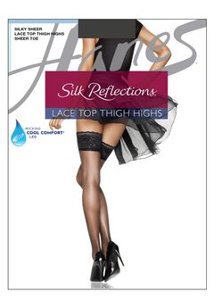 Silk Reflections Lace Top Thigh Highs,