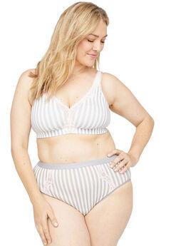 Cotton Hi-Cut Brief Panty With Lace,