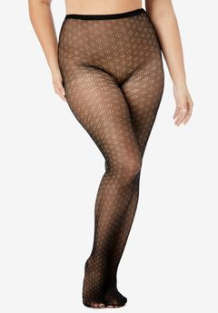 Embroidered Tights by Comfort Choice,