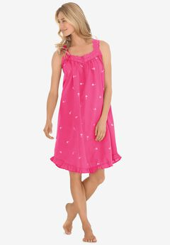 Short Embroidered Nightgown ,